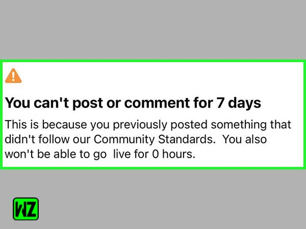 You can't post or comment for 7 days